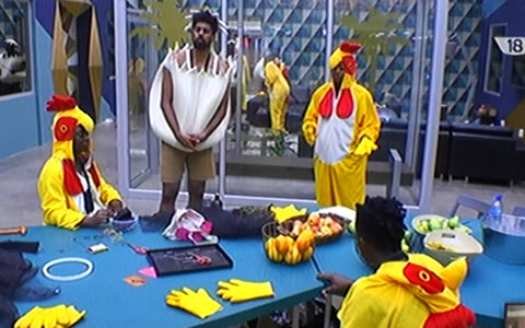 Big Brother Naija 2017 Day 25, The Chicken And Eggs Task