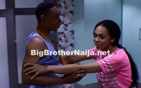 Miyonse Amosu And TBoss In The Big Brother Naija 2017 House