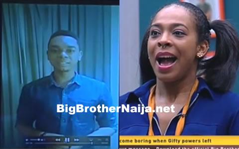 Miyonse Amosu Returns To The Big Brother Naija House To Wish TBoss A Happy Birthday