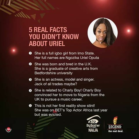 Facts About Former Big Brother Naija 2017 Housemate Uriel Oputa