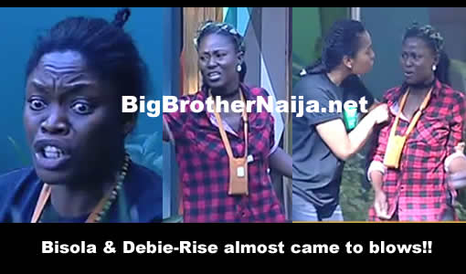 Bisola And Debie-Rise Fight