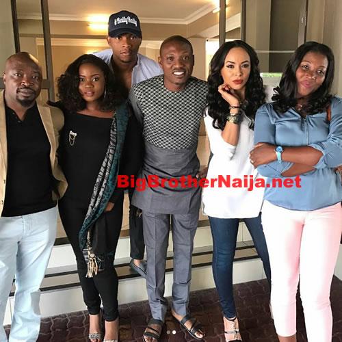 Ebuka Obi-Uchendu Hangs Out With Relatives Of Big Brother Naija 2017 Top 6 Housemates
