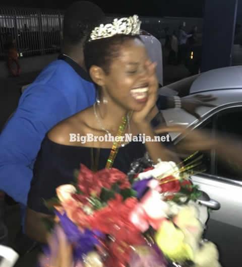 Evicted Housemates Ahneeka and Angel Arrive Back In Nigeria