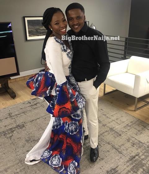 Evicted Housemate Bambam With Deloitte South Africa Auditor Steve Mabusela