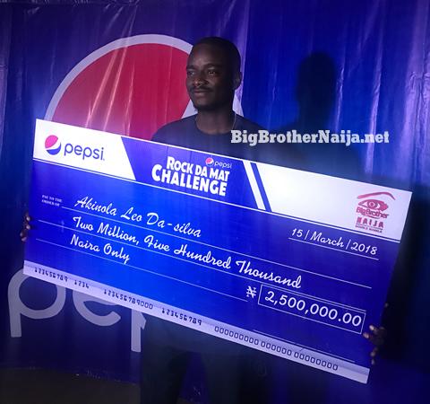 Pepsi Roc Da Mat Challenge Winner Leo Receives 5 Million Naira