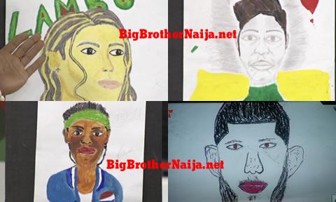Big Brother Naija 2019 Portrait Paintings