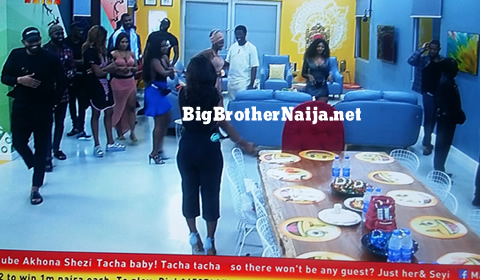 Tacha and Seyi enter the house
