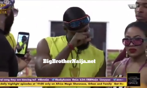Prince Nelson Enwerem crying after his birthday celebrations speech on day 14