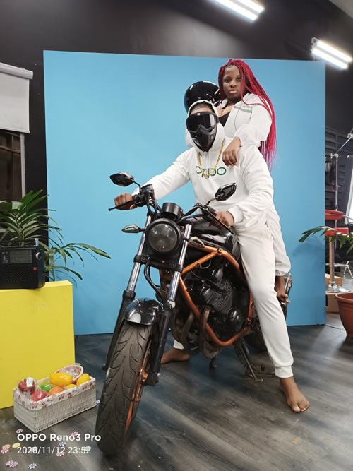 OPPOgraphy Task, Dorathy and Kiddwaya of Team Quadcam with Concept: Ride or Die