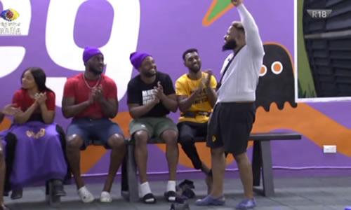 Whitemoney celebrates winning Big Brother Naija 2021 (Season 6) Week 8 Head of House Title